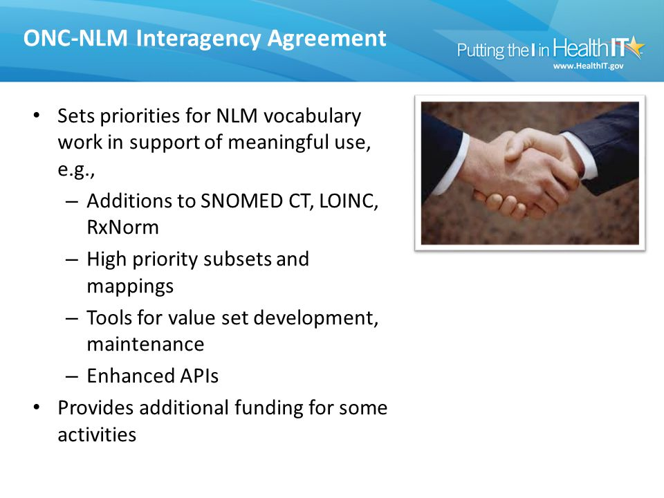 ONC-NLM Interagency Agreement