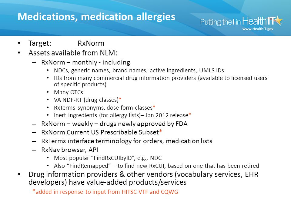 Medications, medication allergies