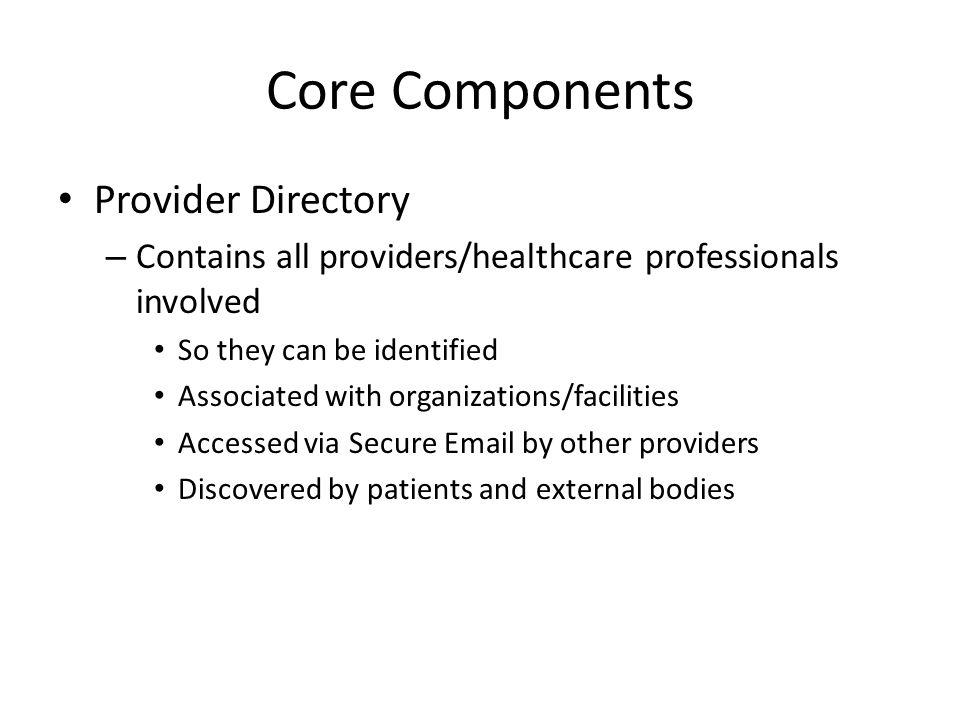 Core Components Provider Directory