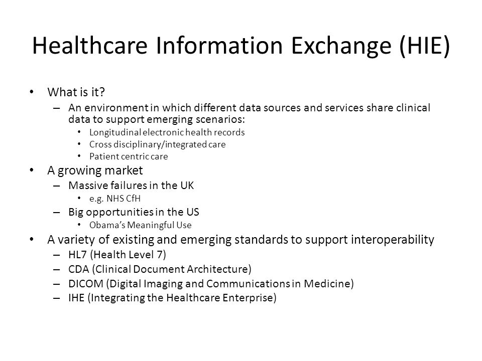 Healthcare Information Exchange (HIE)