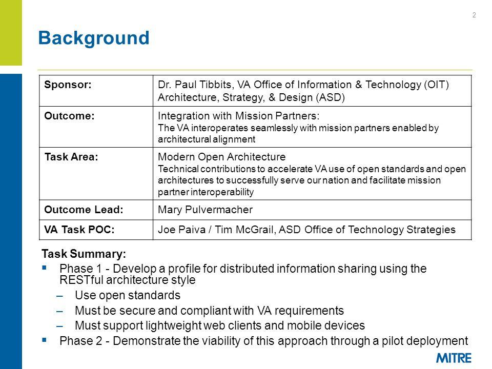 Background Task Summary: