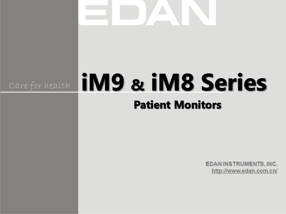 iM9 & iM8 Series Patient Monitors
