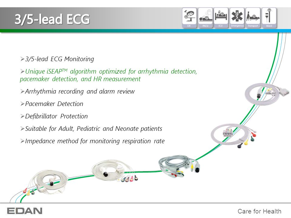 3/5-lead ECG 3/5-lead ECG Monitoring