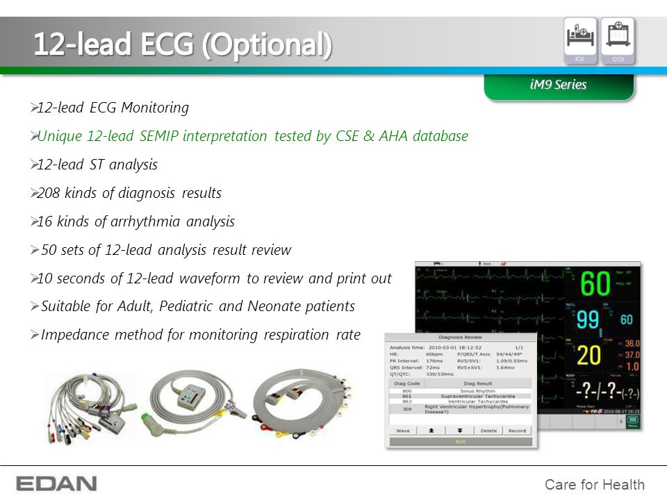 12-lead ECG (Optional) 12-lead ECG Monitoring
