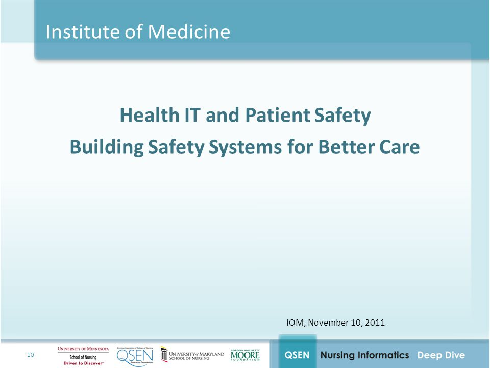 Health IT and Patient Safety Building Safety Systems for Better Care