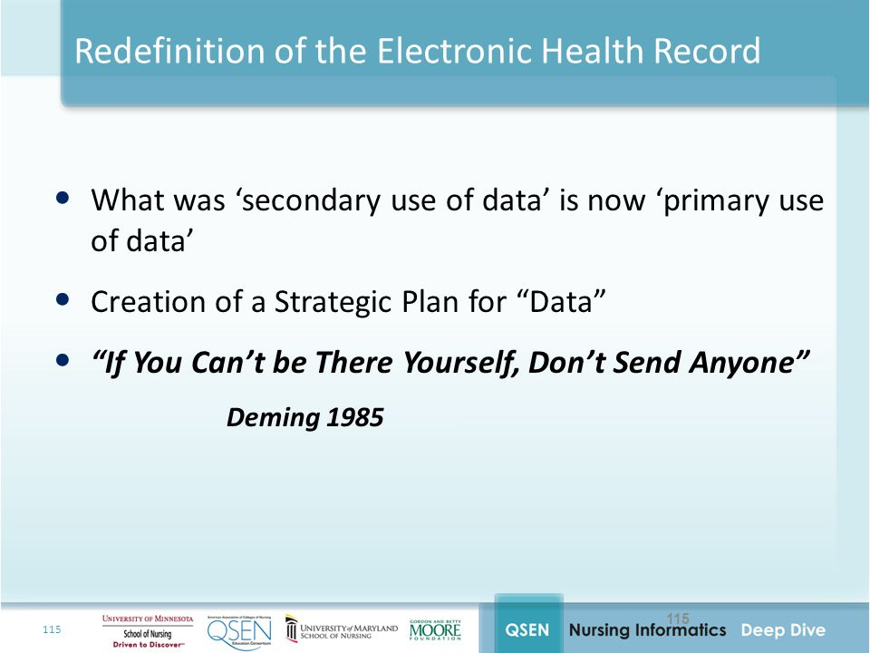 Redefinition of the Electronic Health Record
