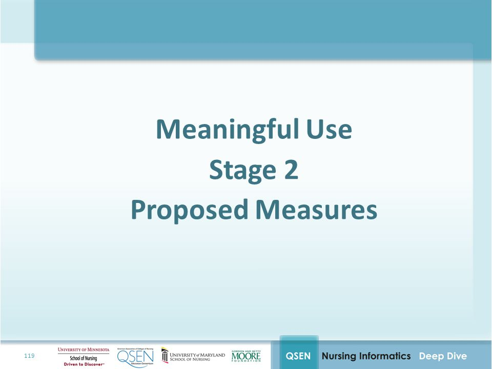 Meaningful Use Stage 2 Proposed Measures