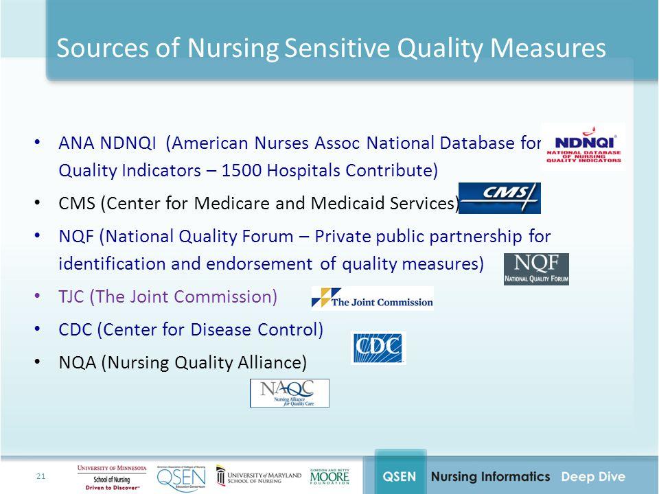 Sources of Nursing Sensitive Quality Measures