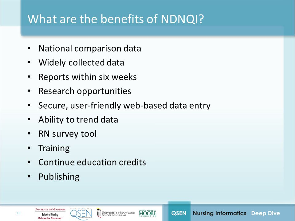 What are the benefits of NDNQI