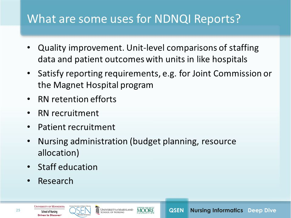 What are some uses for NDNQI Reports