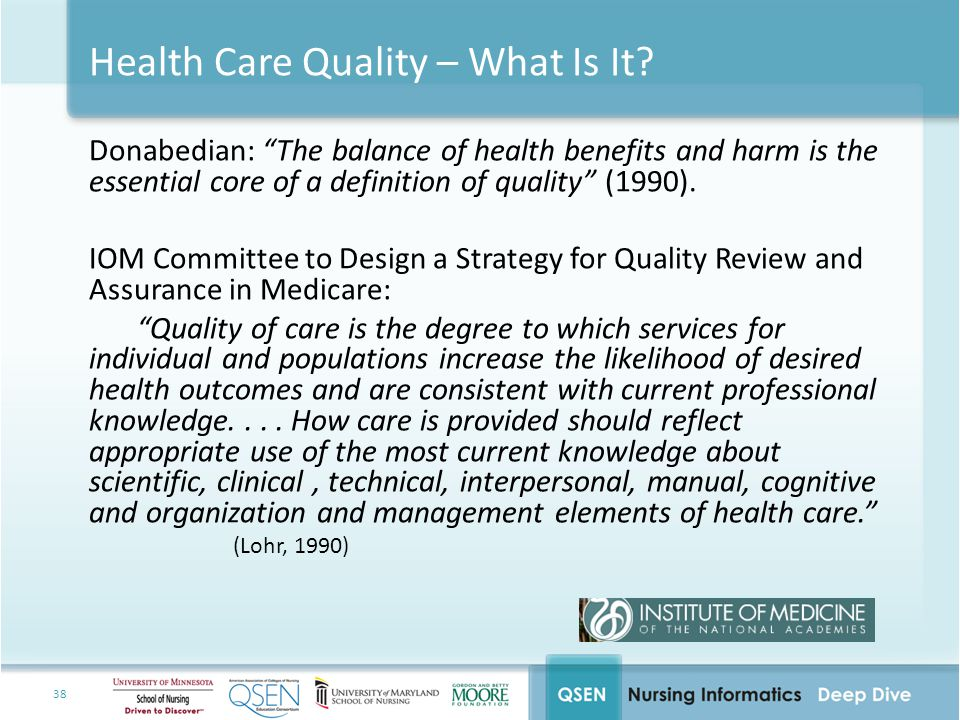 Health Care Quality – What Is It