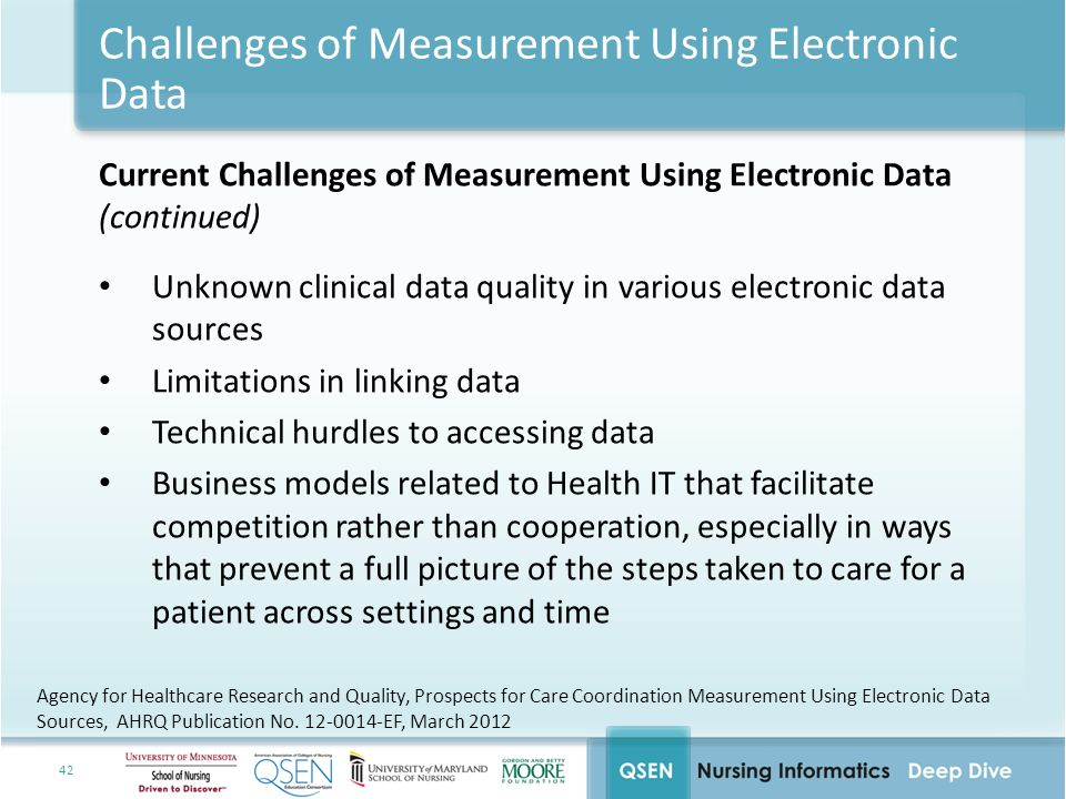 Challenges of Measurement Using Electronic Data