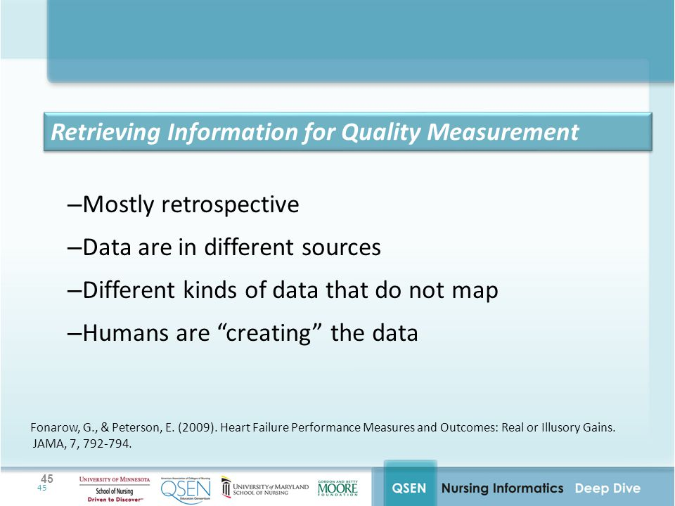 Retrieving Information for Quality Measurement