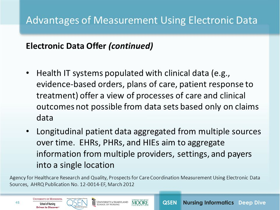 Advantages of Measurement Using Electronic Data