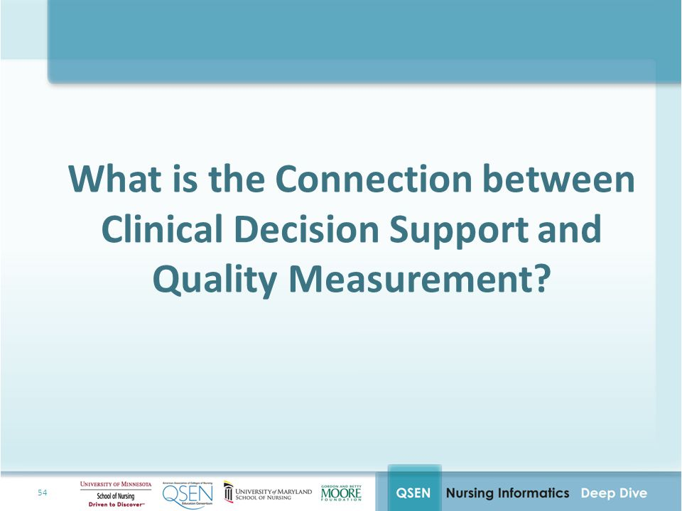 What is the Connection between Clinical Decision Support and Quality Measurement