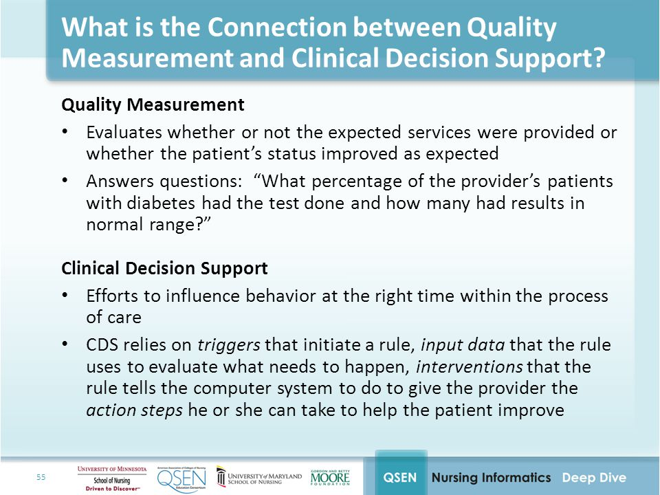 What is the Connection between Quality Measurement and Clinical Decision Support