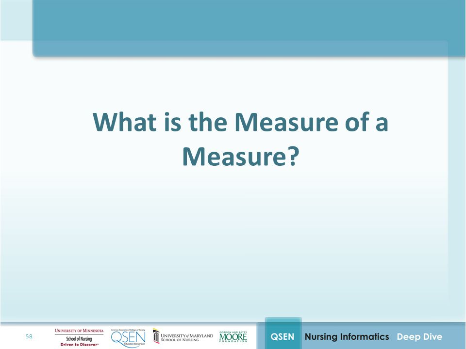 What is the Measure of a Measure