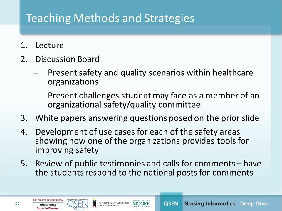 Teaching Methods and Strategies