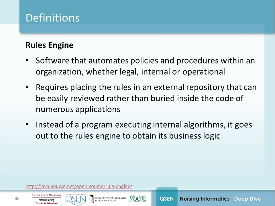 Definitions Rules Engine