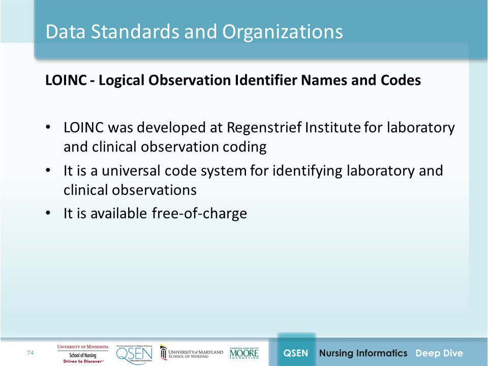 Data Standards and Organizations