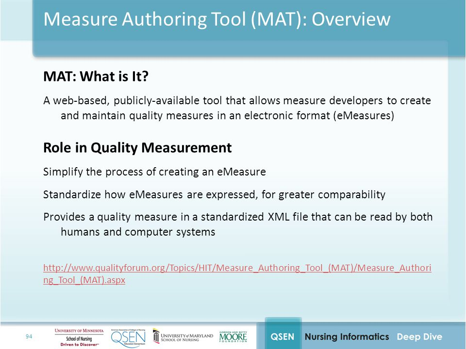 Measure Authoring Tool (MAT): Overview