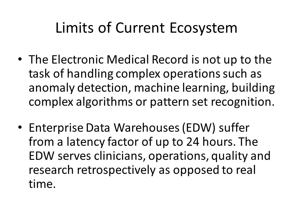 Limits of Current Ecosystem