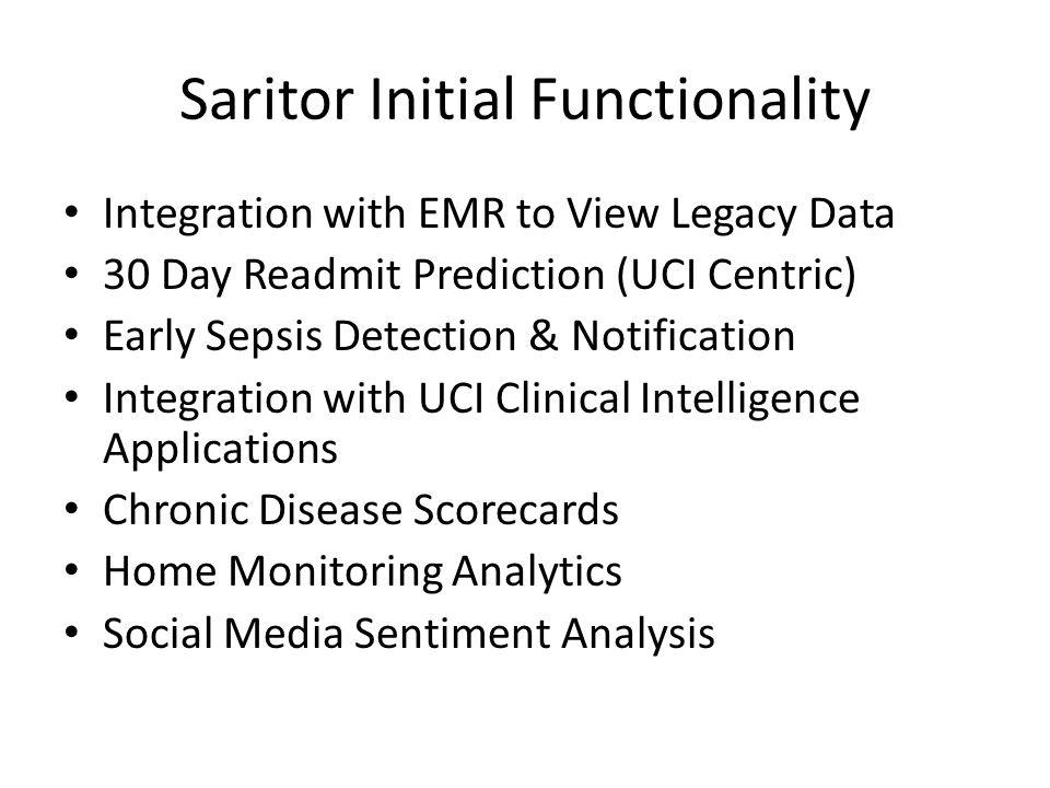 Saritor Initial Functionality