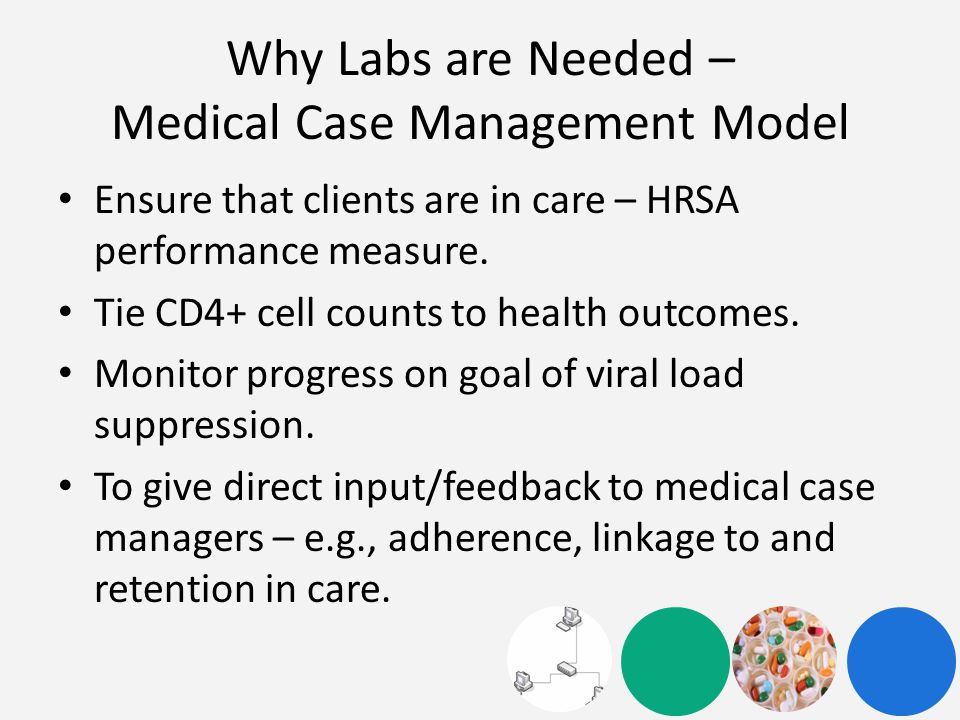 Why Labs are Needed – Medical Case Management Model