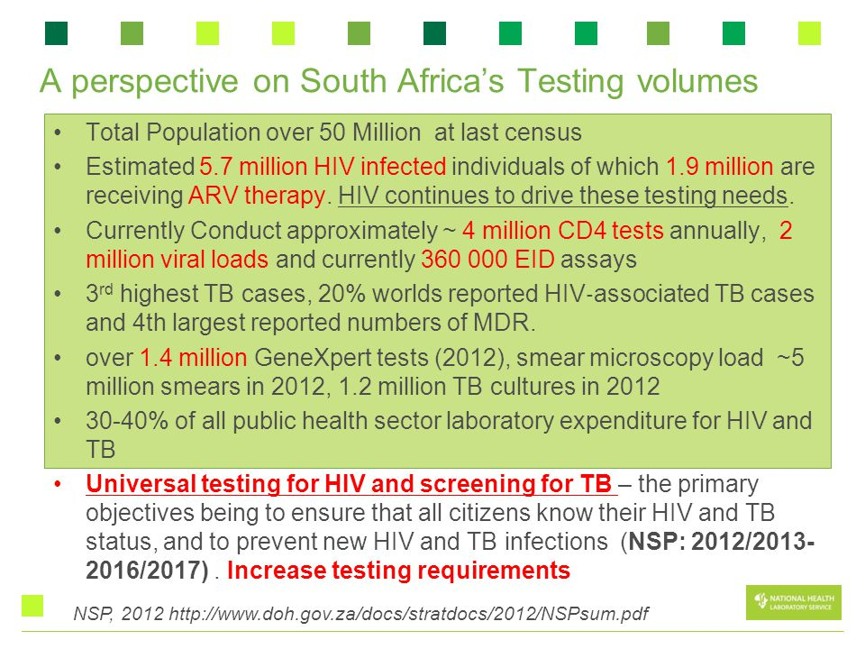 A perspective on South Africa's Testing volumes