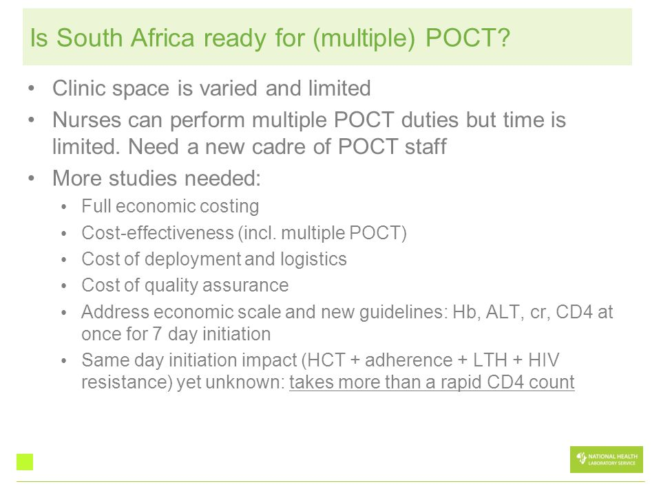 Is South Africa ready for (multiple) POCT