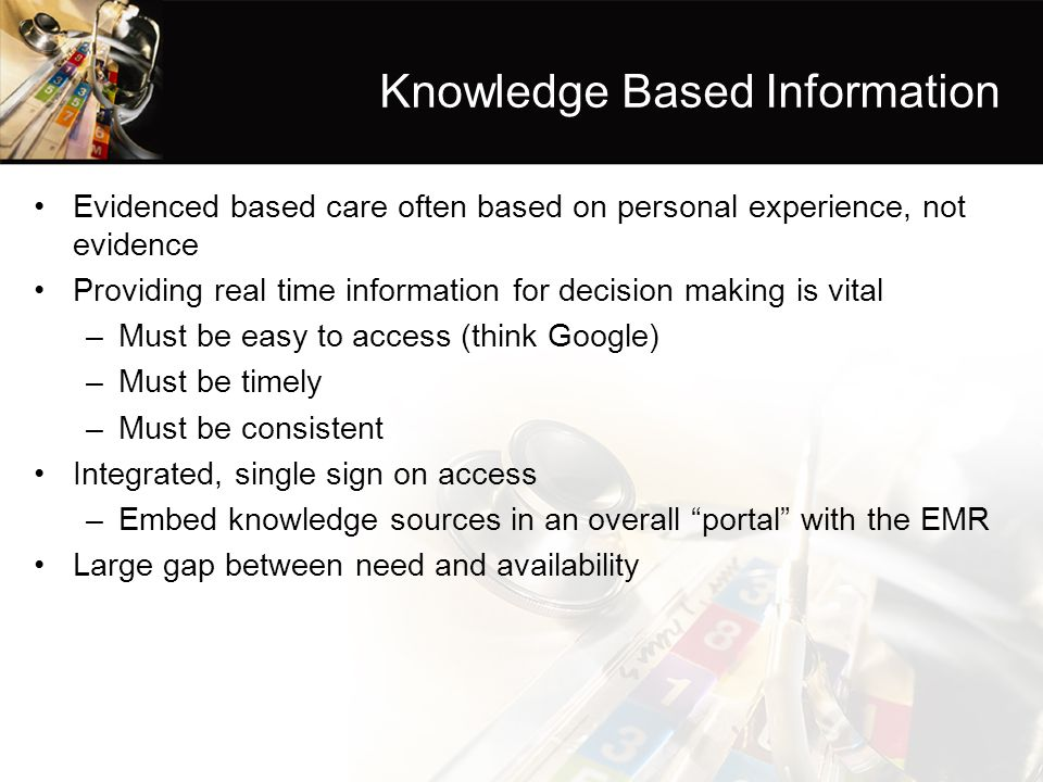 Knowledge Based Information