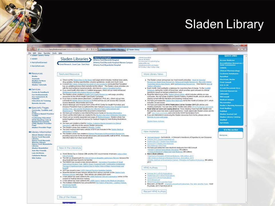 Sladen Library