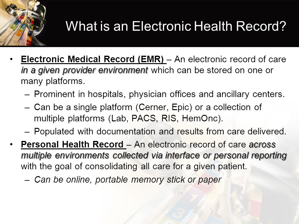 What is an Electronic Health Record