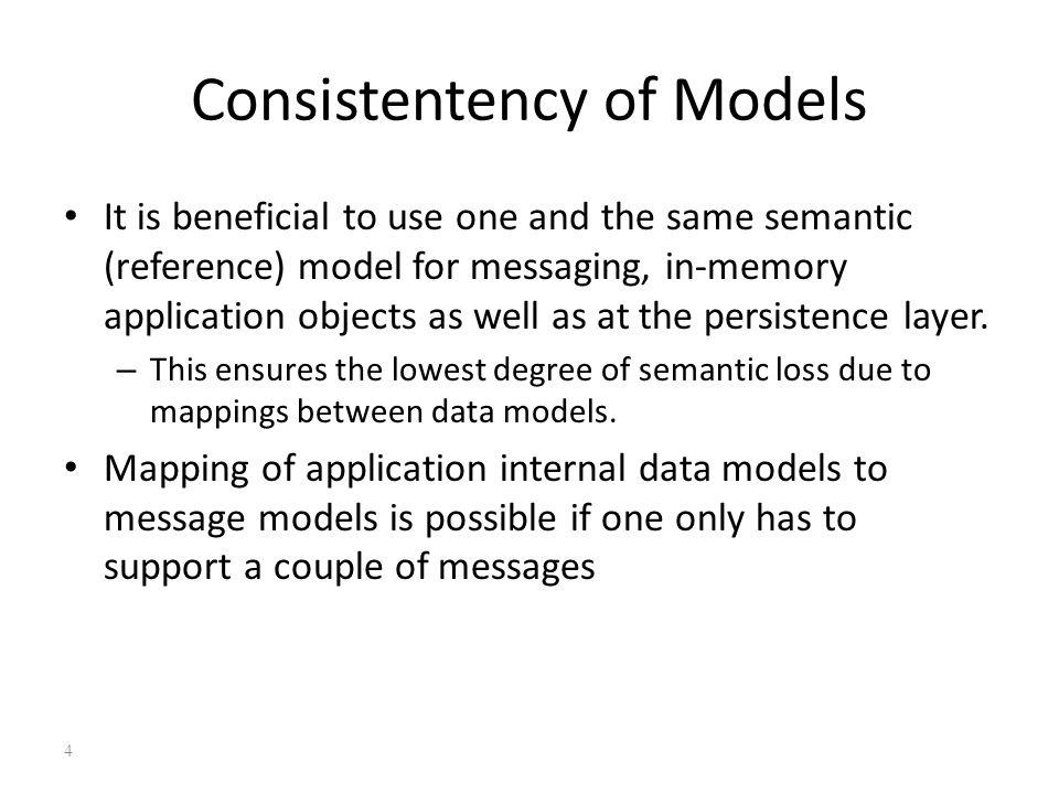 Consistentency of Models