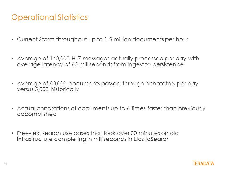 Operational Statistics