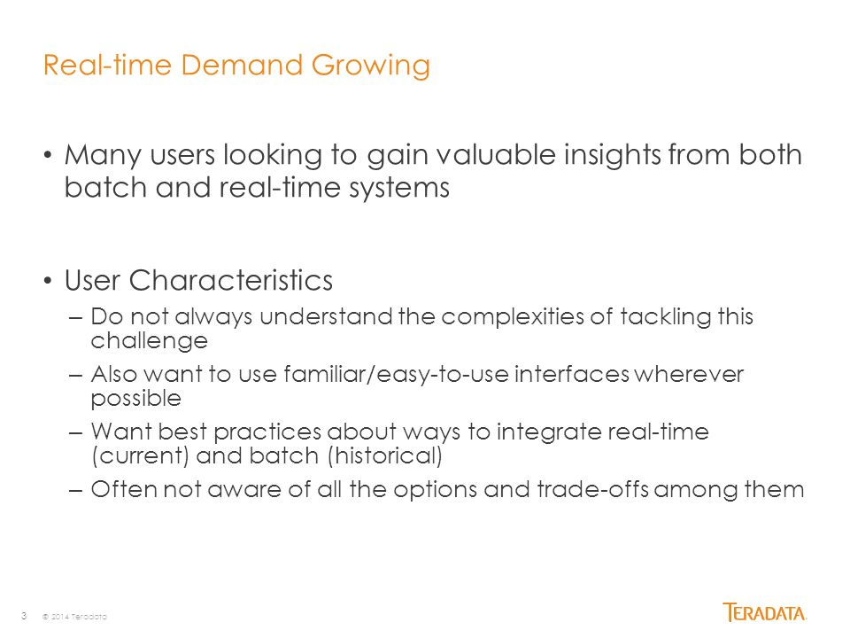 Real-time Demand Growing