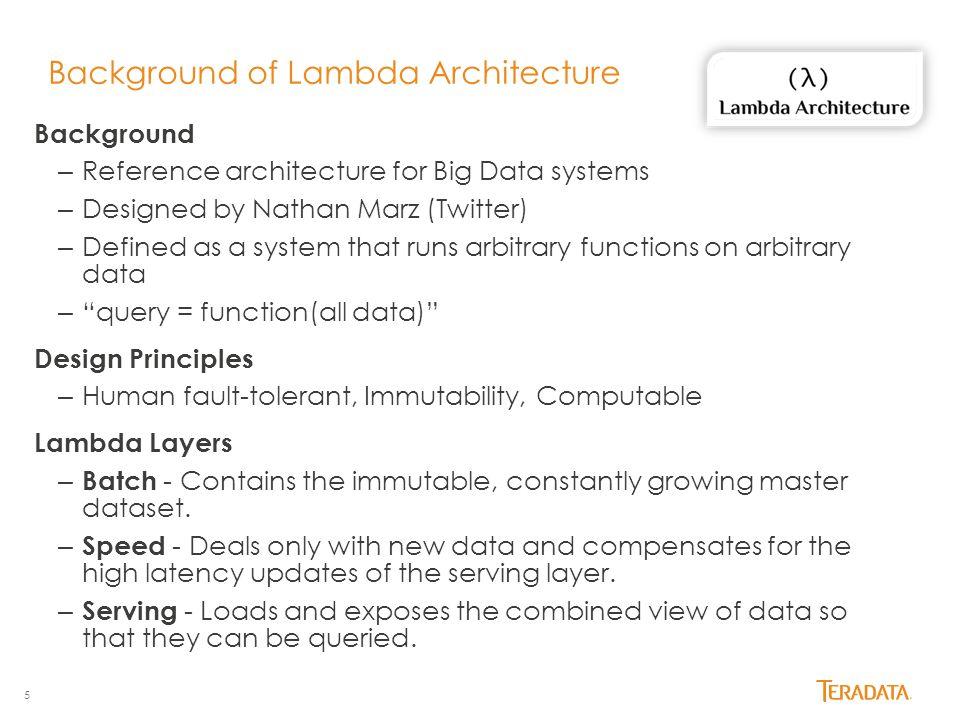Background of Lambda Architecture