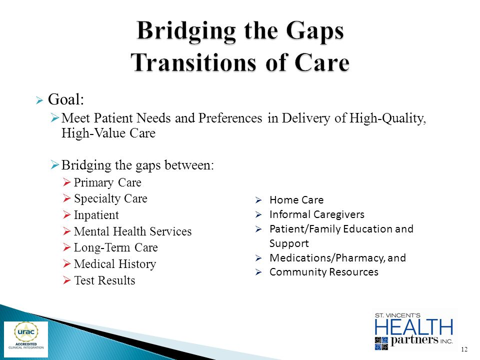 Bridging the Gaps Transitions of Care