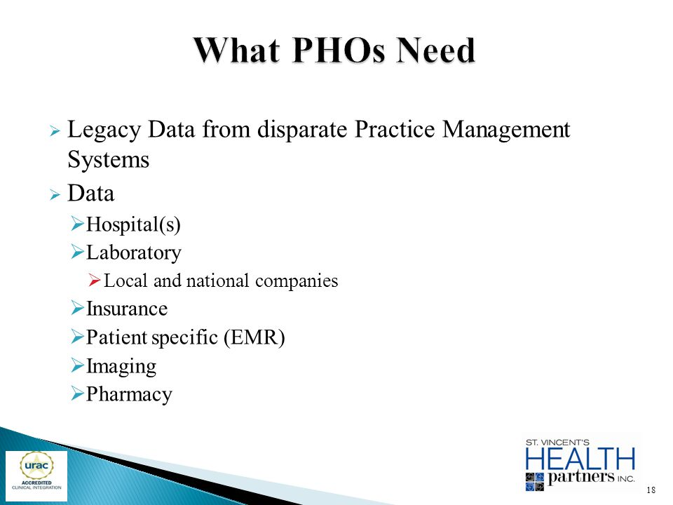 What PHOs Need Legacy Data from disparate Practice Management Systems