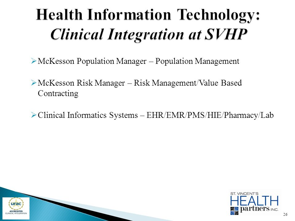 Health Information Technology: Clinical Integration at SVHP