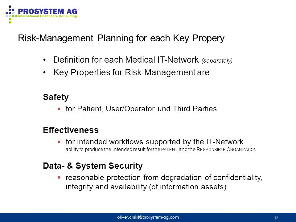 Risk-Management Planning for each Key Propery