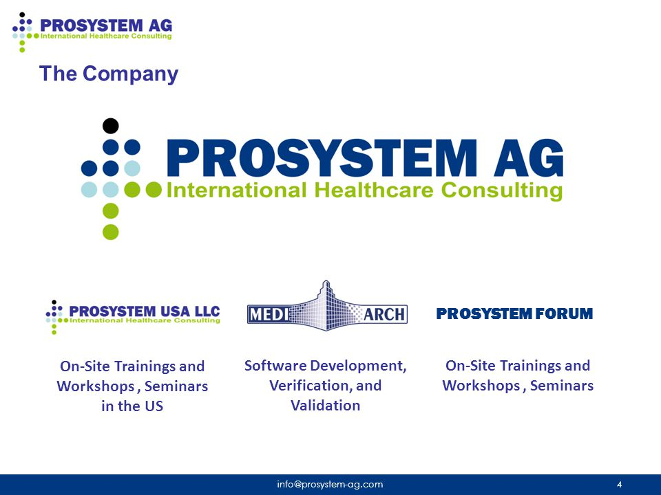 The Company PROSYSTEM FORUM