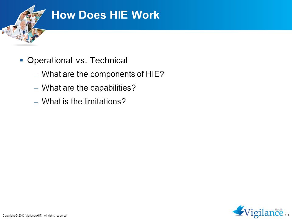 How Does HIE Work Operational vs. Technical