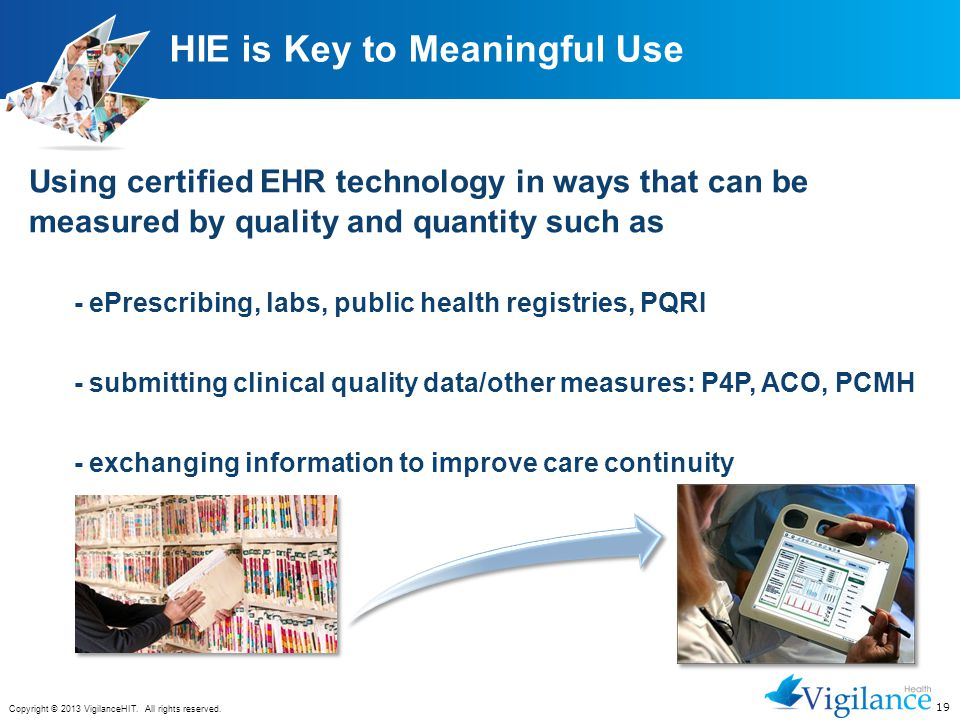 HIE is Key to Meaningful Use