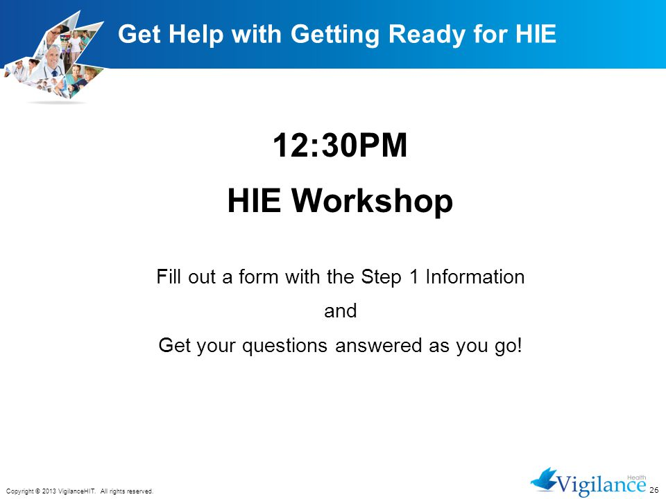 Get Help with Getting Ready for HIE