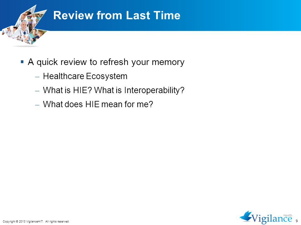Review from Last Time A quick review to refresh your memory