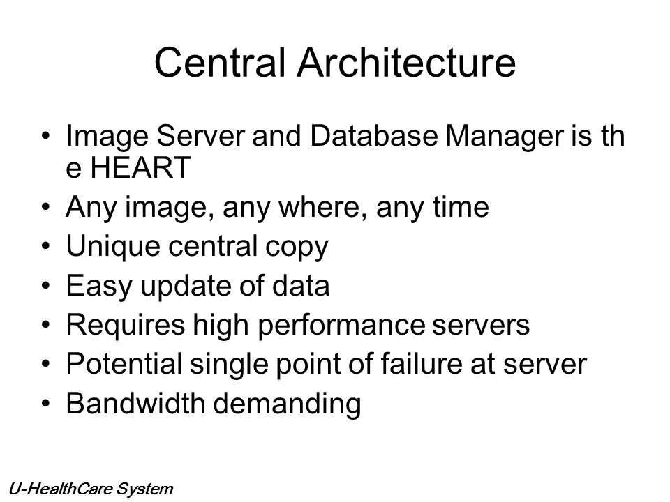 Central Architecture Image Server and Database Manager is the HEART