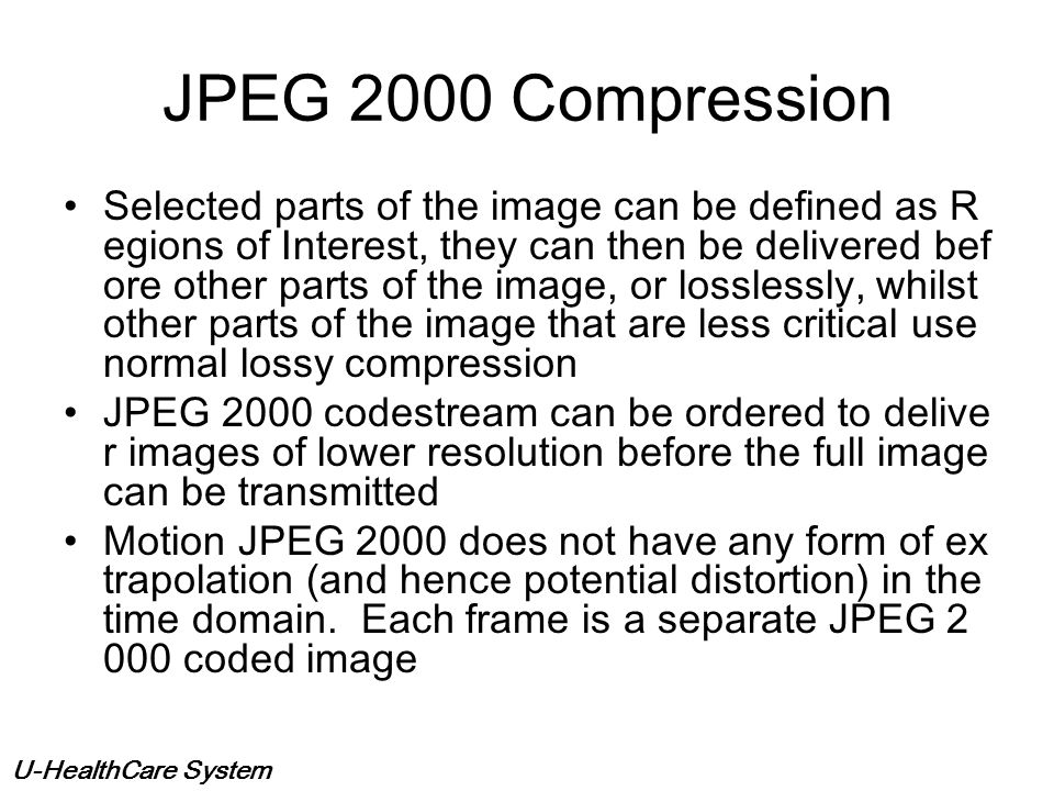 JPEG 2000 Compression