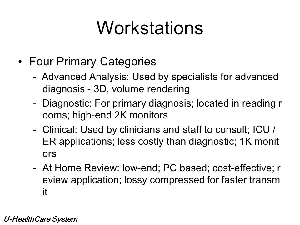 Workstations Four Primary Categories