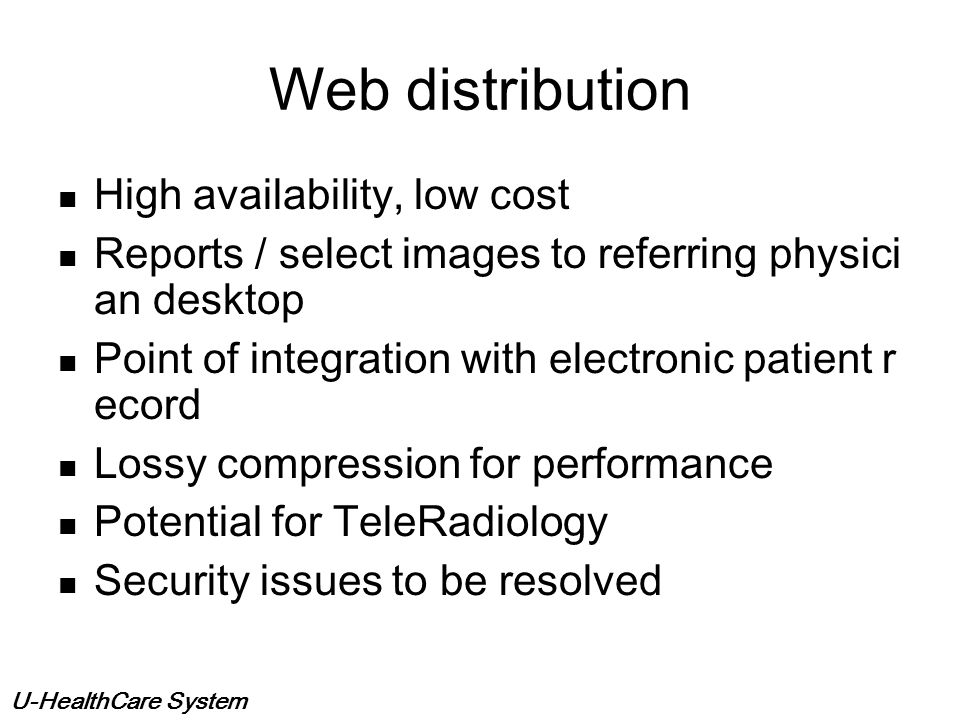 Web distribution High availability, low cost
